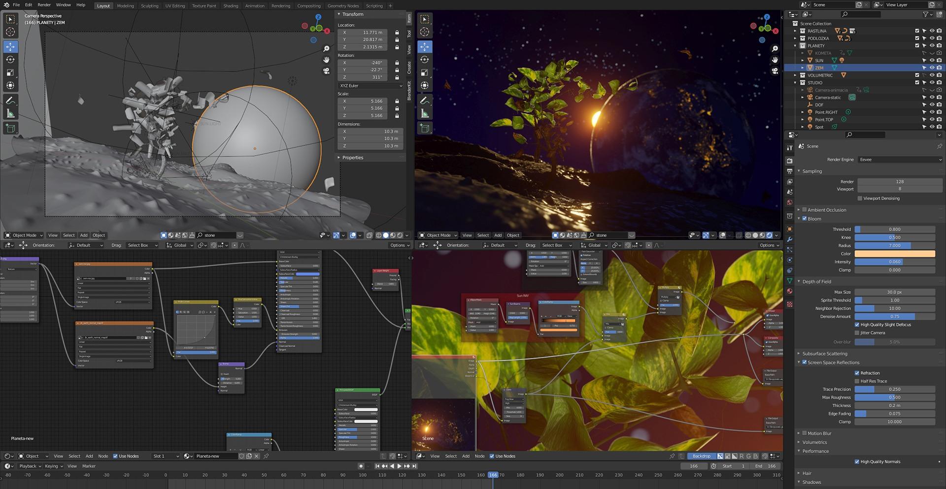 3D grafika v programe Blender