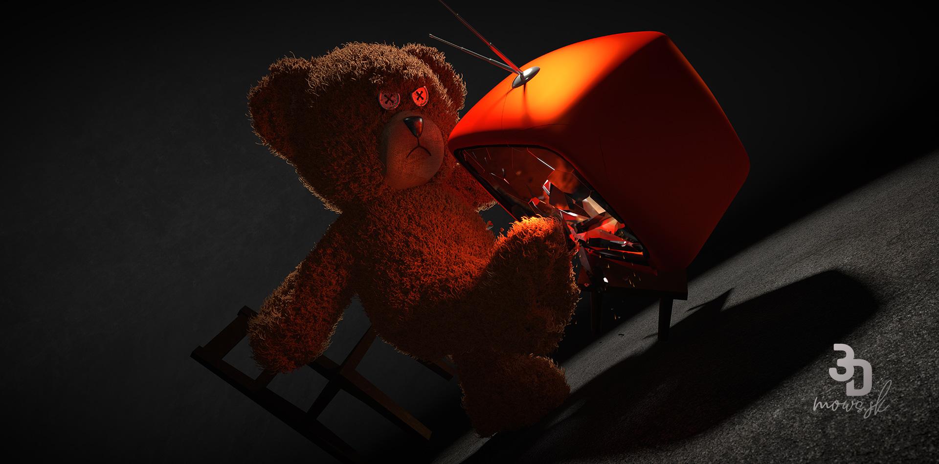 Pôvodný render medveďa