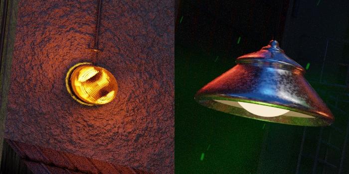 Detail alarmu s majákom a lampa