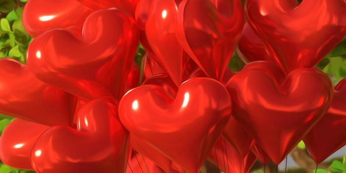 Nafukovacie balóny v tvare srdca