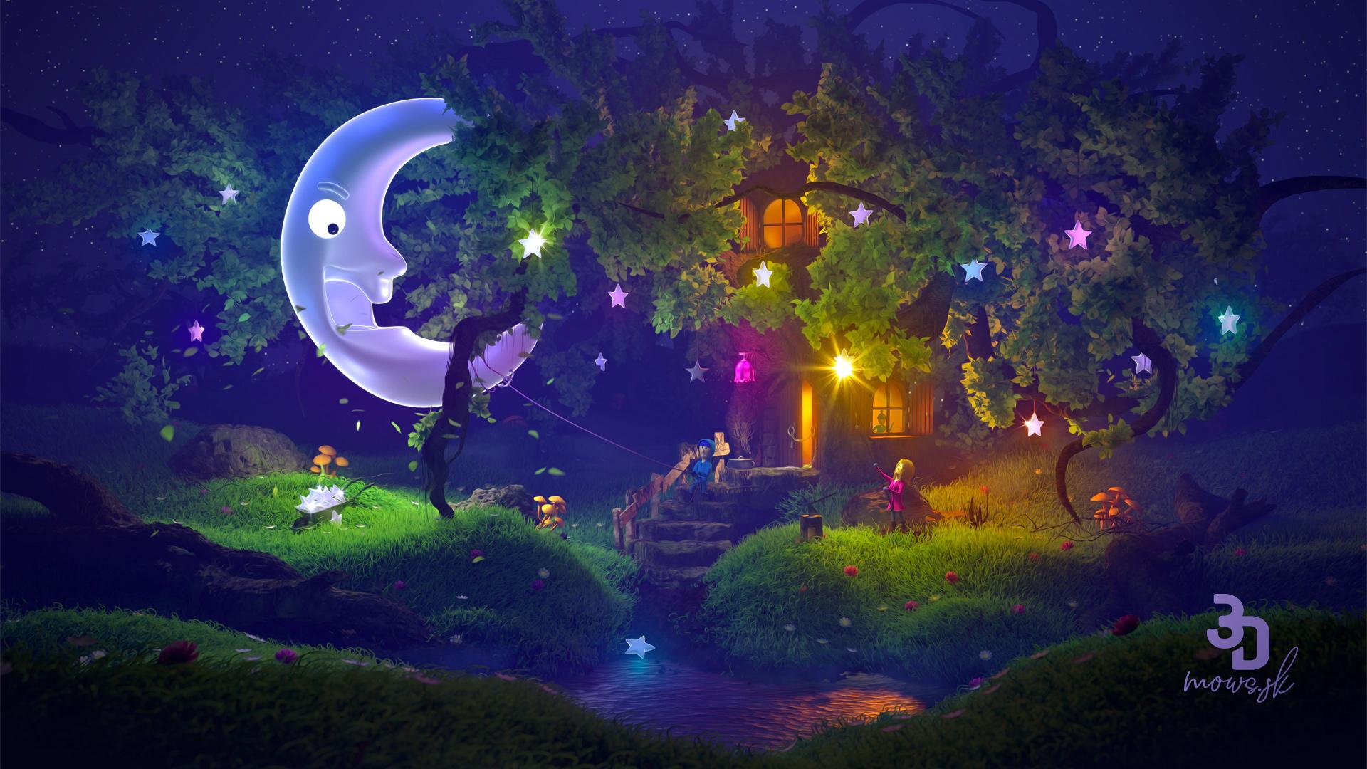 Finálny obrázok s hmlou, hĺbkou ostrosti a mäkkými svetlami vytvorenými postprocesom v Photoshope