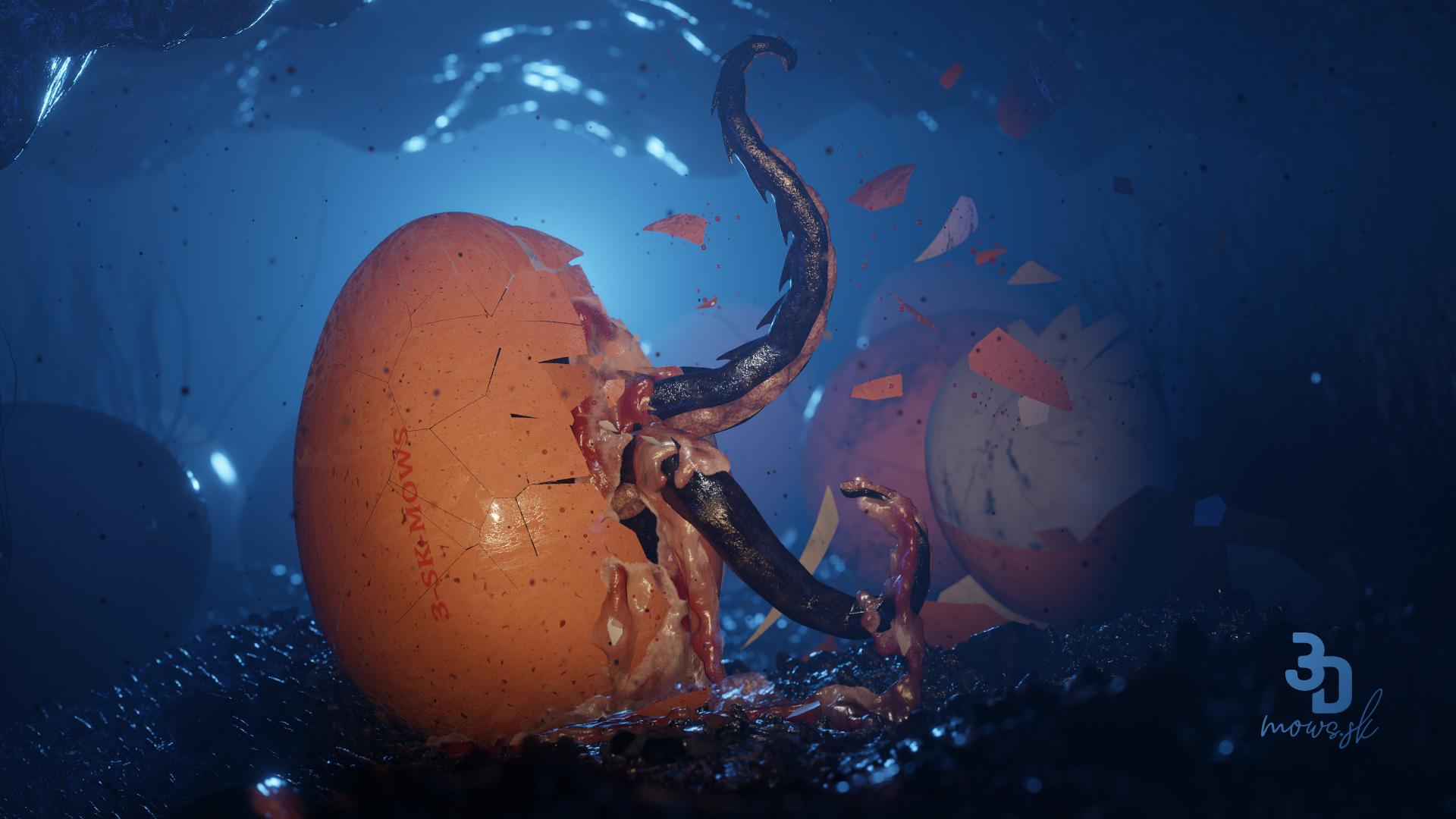 Votrelec v slepačom vajíčku