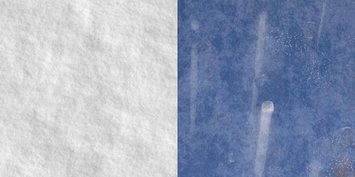 Prvé verzie procedurálnej textúry snehu a jazera