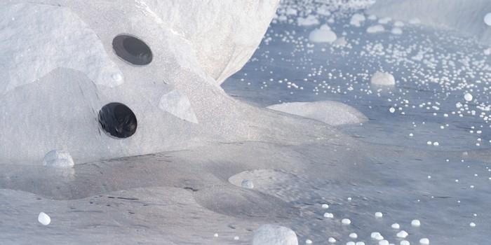 Vytvorenie falošného reliéfu ľadu cez Bump pre rýchlejší render
