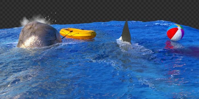 Pracovný 3D render oceánu