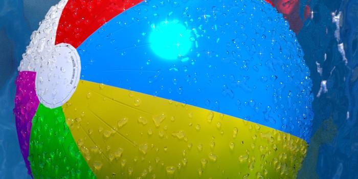 Detail nafukovacej lopty s UV textúrou